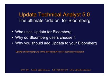 Updata TA add on for Bloomberg - Updata Technical Analyst