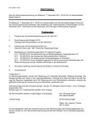 Protokoll vom 7. Dezember 2011 - Grellingen