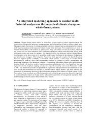 An integrated modelling approach to conduct multi-factorial ...
