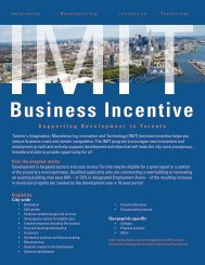Enhanced IMIT Business Incentives: Overview - Invest Toronto
