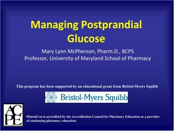 Managing Postprandial Glucose - Free CE Continuing Education ...