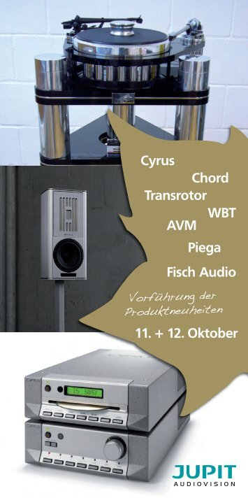 Transrotor Cyrus Piega Chord WBT AVM Fisch ... - Jupit Audiovision