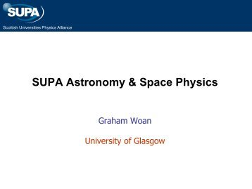 SUPA Astronomy & Space Physics