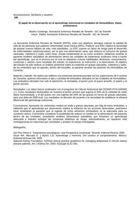 Asociacionismo, familiares y usuarios. - Asociación Española de ...