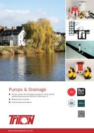 Pumps & Drainage Brochure Download - Triton Chemicals
