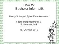 How to: Bachelor Informatik - Fachschaft INF & SWT