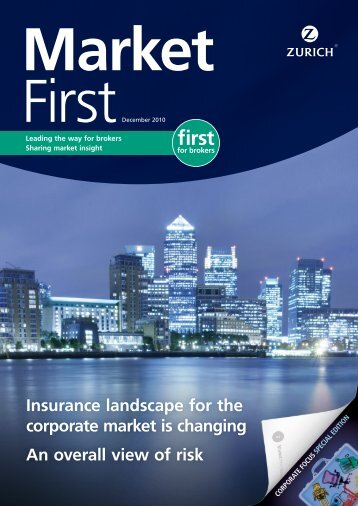 Insurance landscape for the corporate market is ... - Risk Engineering