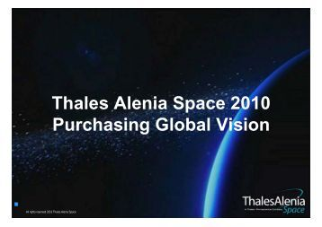 Thales Alenia Space 2010 Purchasing Global Vision - BCI Aerospace