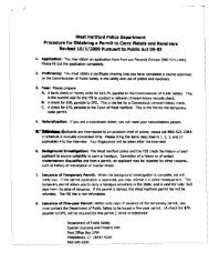 west Hartford Police Department Procedure for Obtaining a Permit to ...