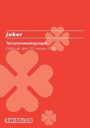 Teilnahmebedingungen Joker - Swisslos