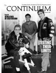 Testing their Limits - Cistercian Preparatory School