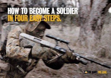 how to become a soldier in four easy steps. - Defence Jobs