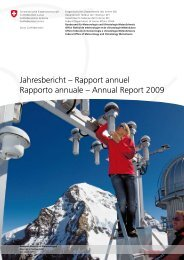 Annual Report 2009 - MeteoSwiss