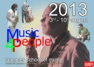 Download the 2013 brochure - Music for People Summer School