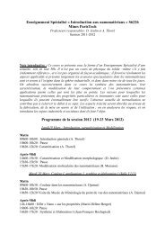 Détail du programme de la session 2012 - MINES ParisTech