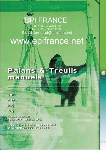 Palans et Treuils manuels