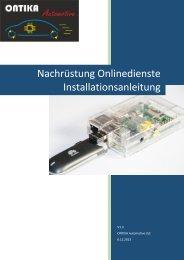 Onlinedienste Installationsanleitung - ONTIKA Automotive Ltd.