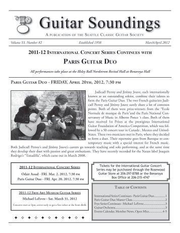Guitar Soundings, v.53 n.2 (March/April 2012) - Seattle Classic ...
