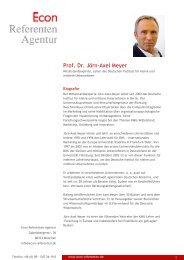 Prof. Dr. Jörn-Axel Meyer - Econ Referenten-Agentur