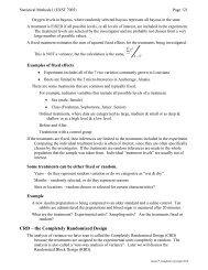 Experimental Design & post ANOVA tests - Louisiana State University
