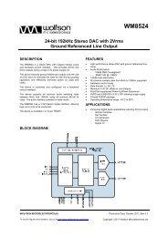 WM8524, Rev 4.1 - Wolfson Microelectronics plc