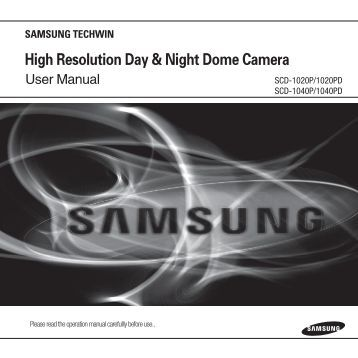 High Resolution Day & Night Dome Camera - Samsung CCTV