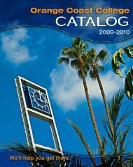 Course Catalog 2009-2010 - Orange Coast College