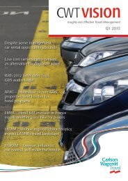 CWT Vision Q1 2012 Issue - Carlson Wagonlit Travel