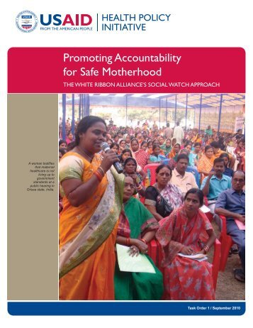 Promoting Accountability for Safe Motherhood - Health Policy Initiative