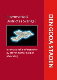 Improvement Districts i Sverige? - Cerum - Umeå universitet