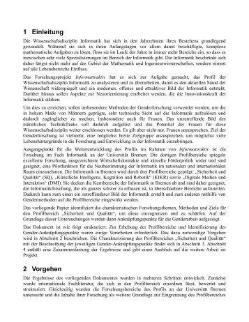 1 Einleitung 2 Vorgehen - DiMeB - Universität Bremen