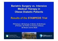 Bariatric Surgery vs. Intensive Medical Therapy in Obese Diabetic ...