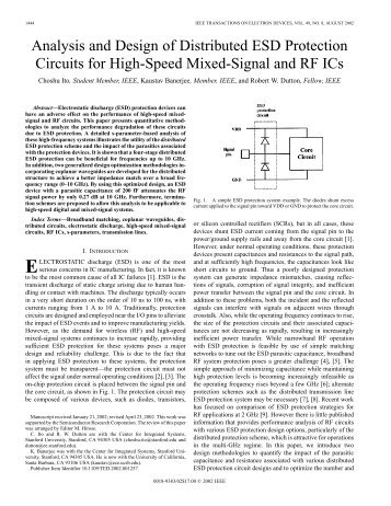 Analysis and design of distributed ESD protection circuits for high ...
