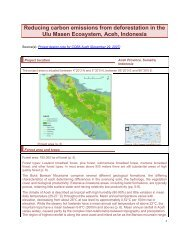 Reducing carbon emissions from deforestation in the Ulu Masen ...
