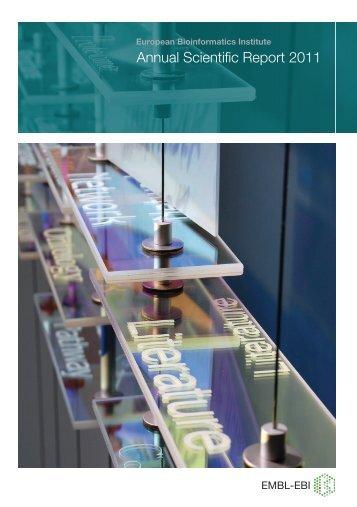 Annual Scientific Report 2011 - European Bioinformatics Institute