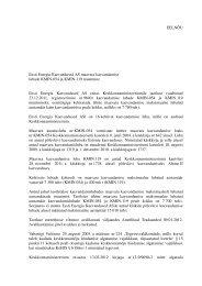 Eesti Energia Kaevandused AS maavara kaevandamise lubade ...