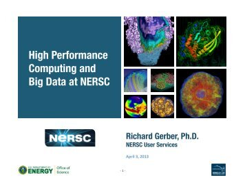 High Performance Computing and Big Data at NERSC