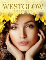 in this issue - Westglow Spa
