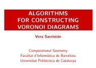 ALGORITHMS FOR CONSTRUCTING VORONOI DIAGRAMS - UPC