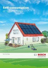 Self-consumption of Solar Energy - Bosch Solar Energy AG