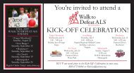 You're invited to attend a KICK-OFF CELEBRATION! - ALS ...
