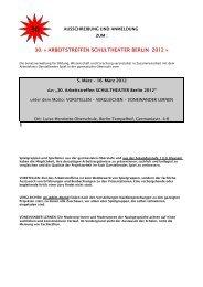 30. « ARBEITSTREFFEN SCHULTHEATER BERLIN 2012 »