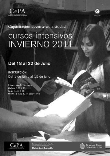 cursos intensivos INVIERNO 2011 - Buenos Aires Ciudad