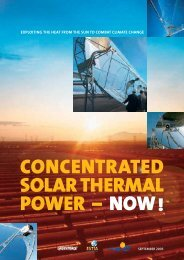 CONCENTRATED SOLAR THERMAL POWER – NOW - SolarPACES