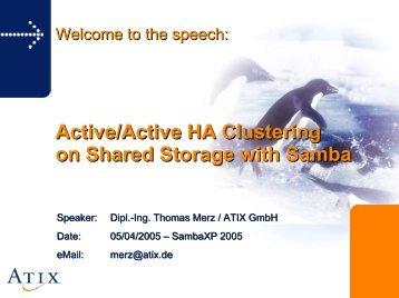 01-Thomas Merz - Samba als AD HA Dienst PDF - sambaXP