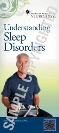 Download the Sleep Disorders brochure - American Academy of ...