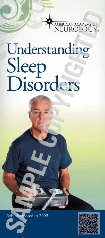Download the Sleep Disorders brochure - American Academy of ...