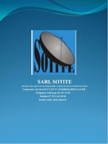 sarl sotite - Made-in-algeria.com