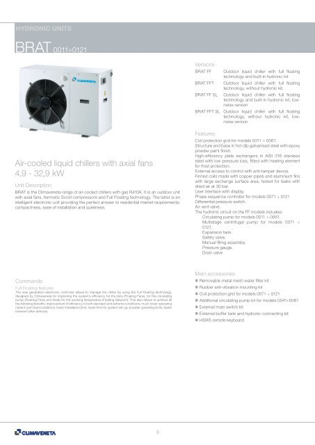 Air-cooled liquid chillers with axial fans 4,9 - Termo Klima Koper