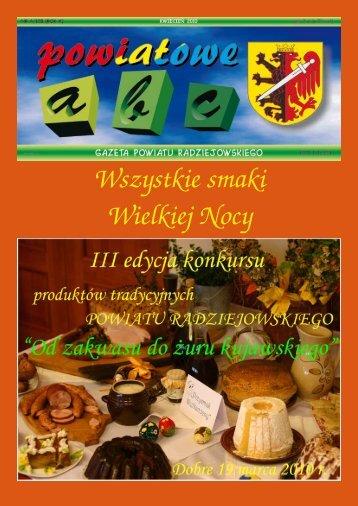 Powiatowe ABC - kwiecień 2010 - Powiat Radziejowski